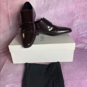 Versace Collection Men Brown Spazzolato Leather